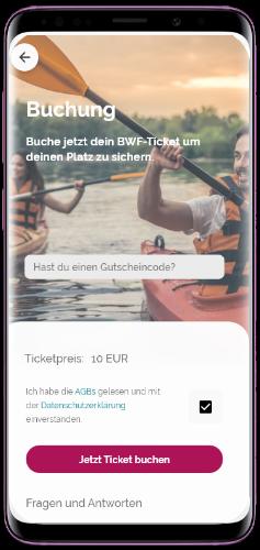 Screenshot Buchung